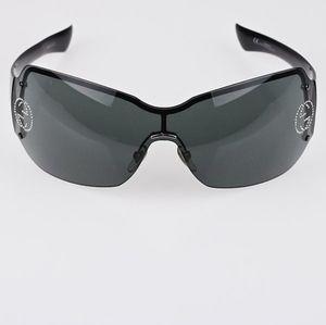 RARE FIND Gucci GG 1825/S/Strass BLC9 Leumh Black